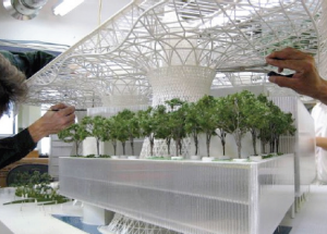 A model of Masdar Headquarters printed by Smith+Gill Architects using Stratasys 3D printing technology.