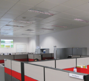 ERI@N'sCleanTech One office space in Singapore equipped with energy efficient ECOPHIT® chilled ceiling technology (Source NTU)