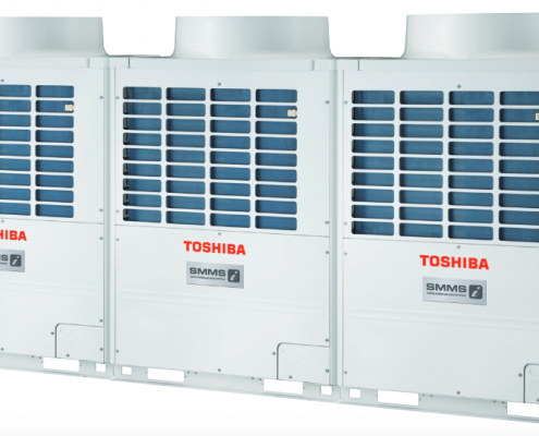The SMMS-e is the next-gen model of the Toshiba VRF system.