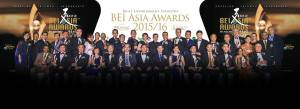 Winners of the BEI Asia Awards 2015/16. Image courtesy of www.facebook.com/BEIasiaAwards