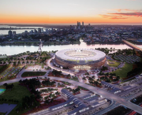 Perth Stadium is the first full LED-lit multi-purpose stadium implementation in the APAC region. Image courtesy of Philips.