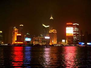 A view of the Pudong skyline.
