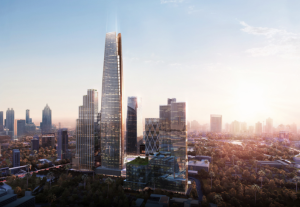 One Bangkok is the first project in Thailand to target LEED Platinum certification.  for Neighborhood Development. Image courtesy of Atchain.